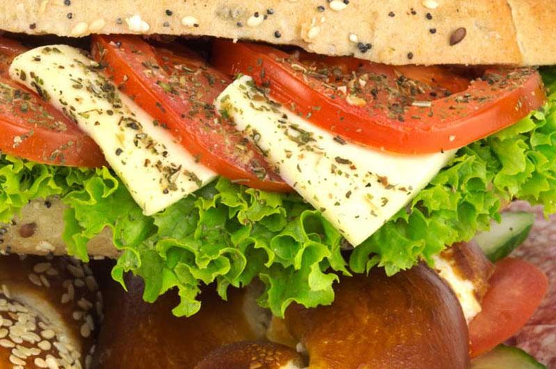 Snacks und belegte Brote